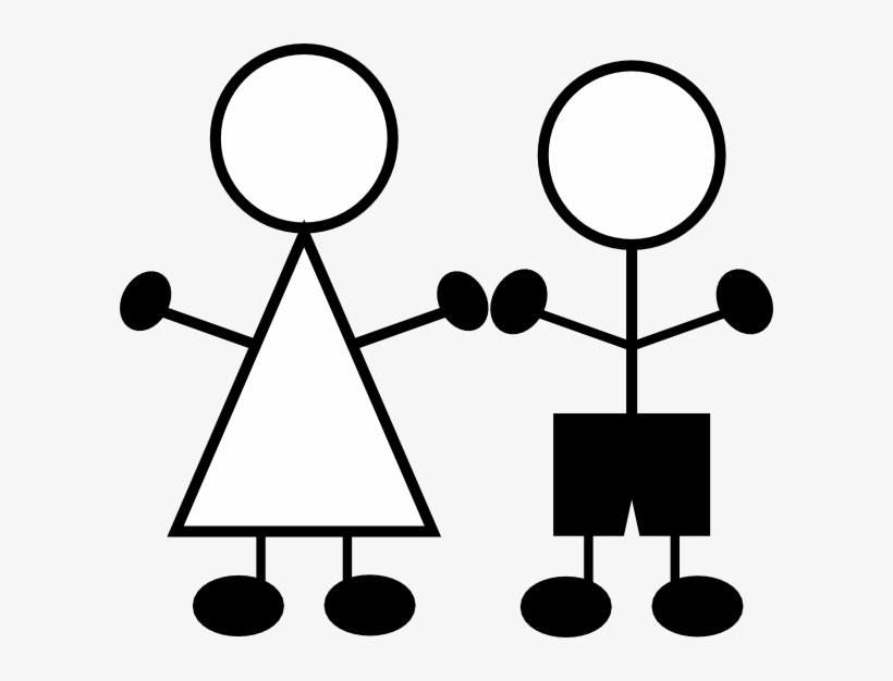 Stick Figures Girl And Boy Clip Art At Clker.