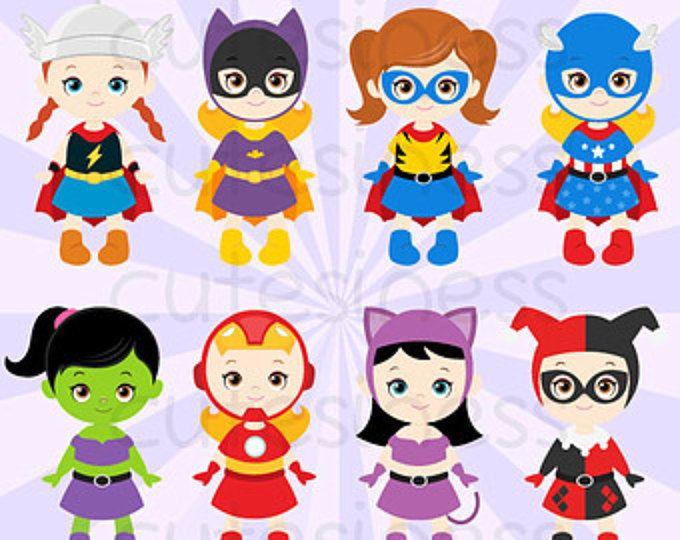 Boys Superhero Costumes Clipart 1, Boy Superheroes.