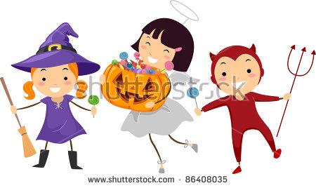 Kids Halloween Costumes Stock Photos, Royalty.