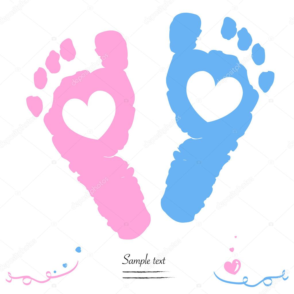 Clipart: twin baby.