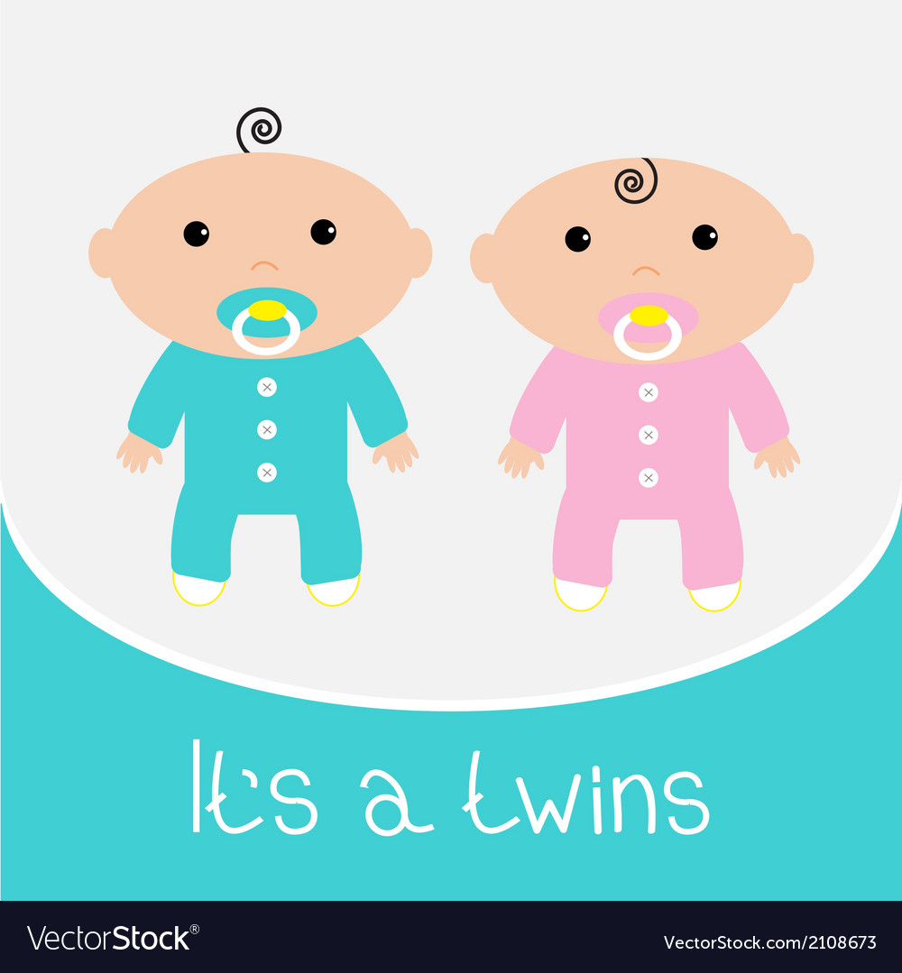 Baby shower card Its a twins boy and girl.