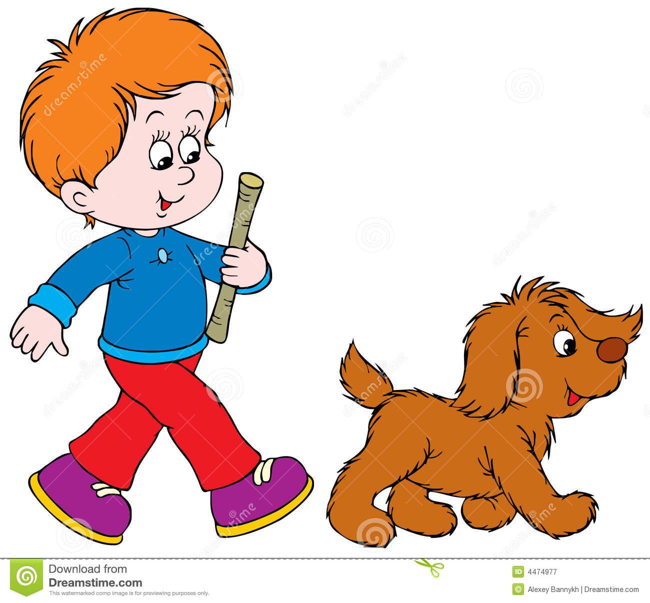 Puppy Walking Clipart.