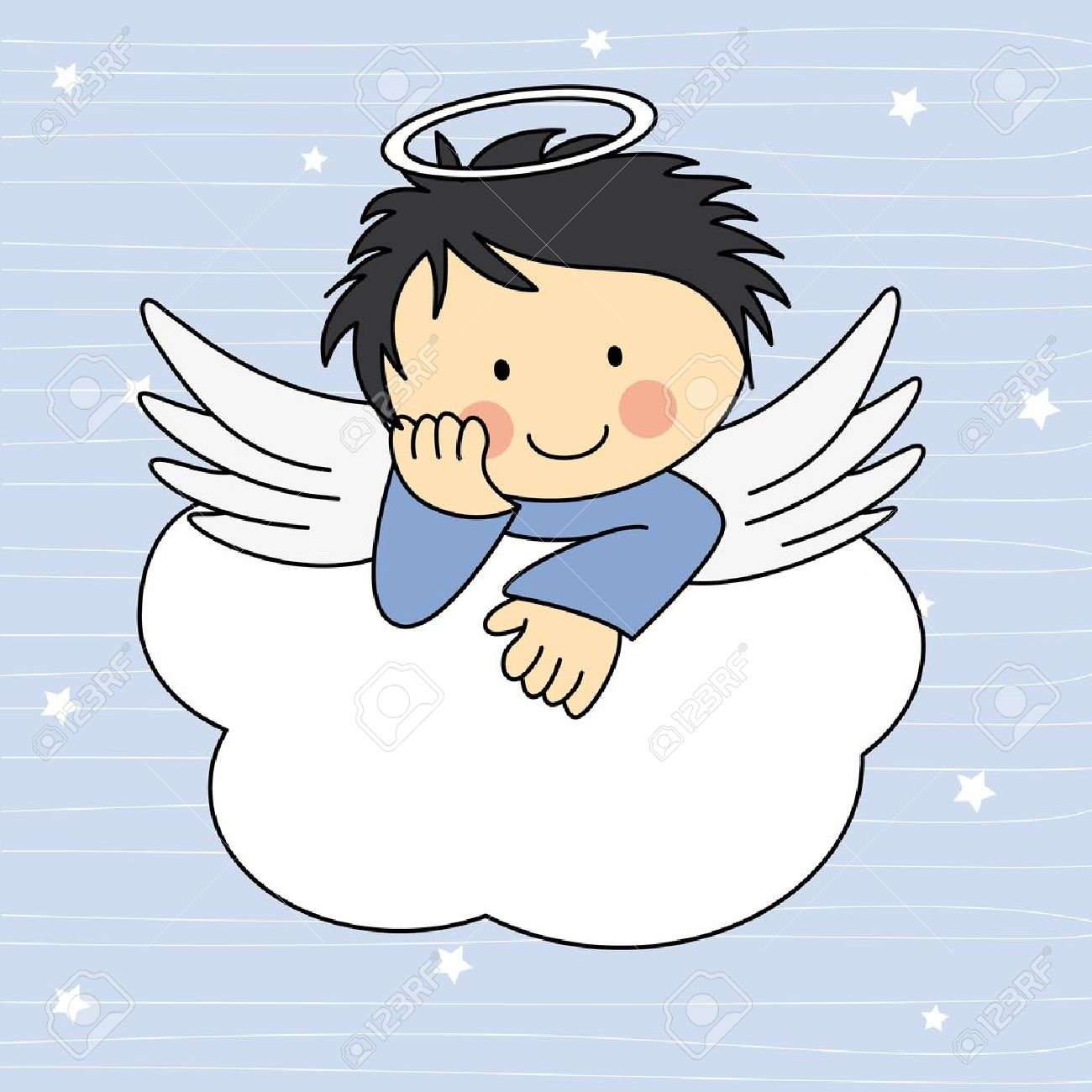 Baby Boy Angel Clipart.