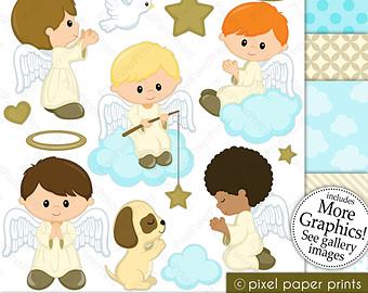 Angel boy clip art.
