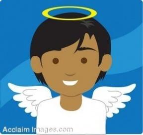 Cute Baby Boy Angel Clipart.