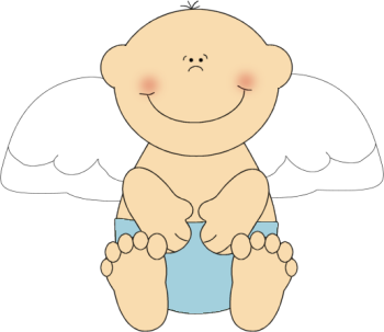 Baby Boy Angel Clip Art.