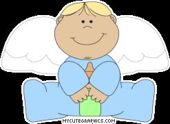 Boy Angel Clip Art.