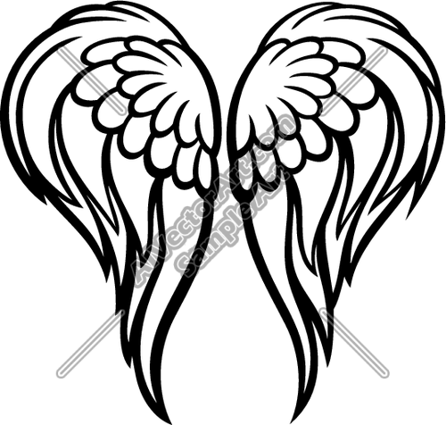 Angel Wings Clipart Black And White.