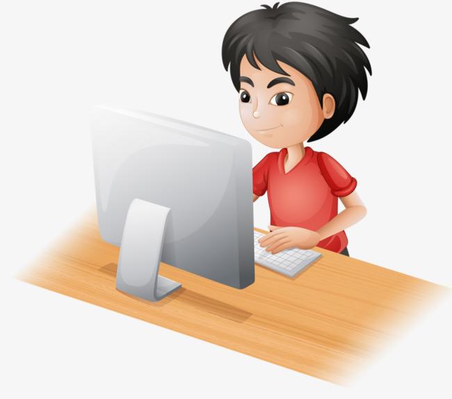 Computer Boy Png & Free Computer Boy.png Transparent Images.