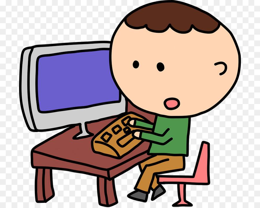 Computer Child Download Clip art.