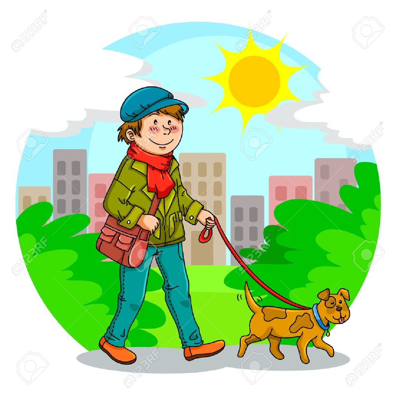 boy at park clipart #11