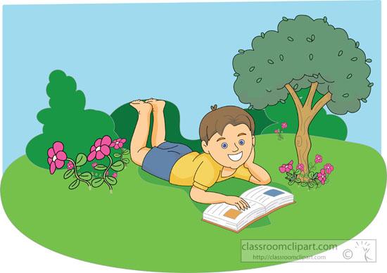 Boy At Park Clipart.