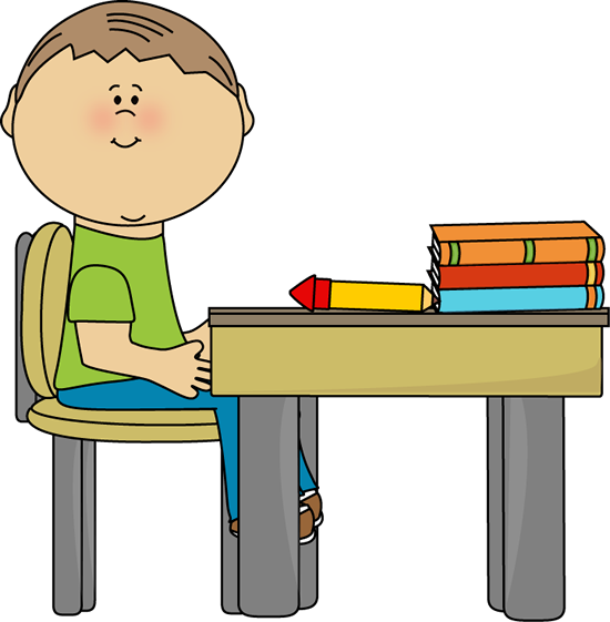 Boy At School Clipart.