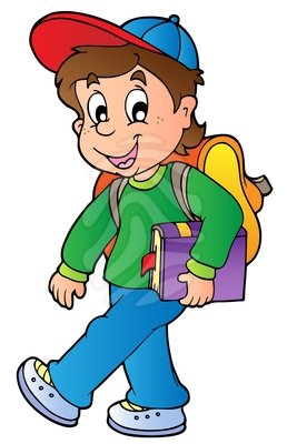 Boy going to school clipart 9 » Clipart Station.
