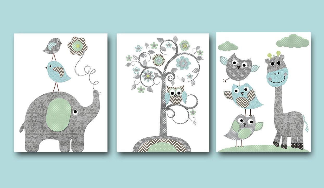 Owl and elephant.