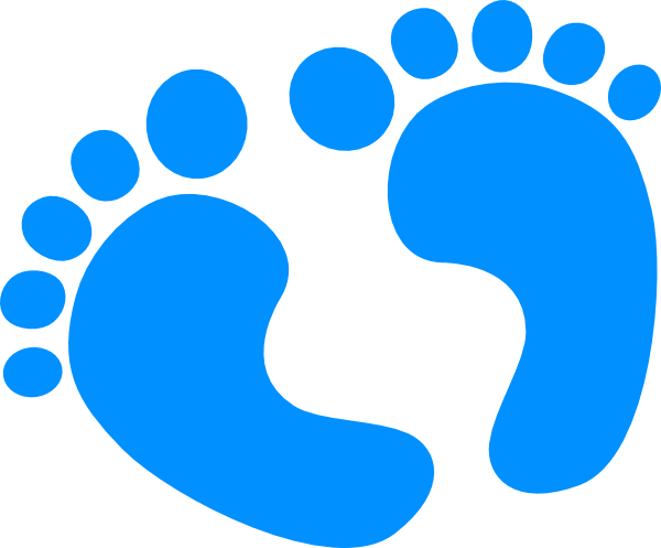 It S A Boy Baby Feet Clip Art.