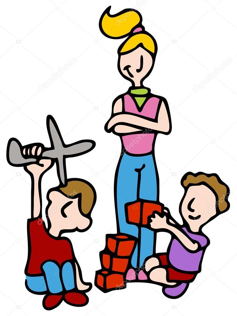 Babysitter Stock Vectors, Royalty Free Babysitter Illustrations.
