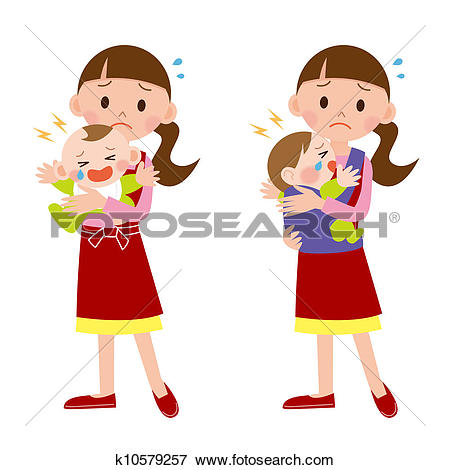 Stock Illustration of Mother and baby / Babysitter k10579257.