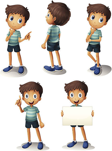 Boy Back View Clip Art, Vector Images & Illustrations.
