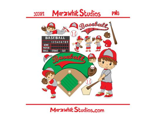 Boy Baseball Clipart.