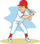 Boy Playing Baseball Clipart.