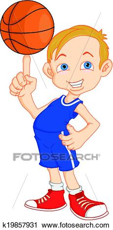 Boy basketball player Clipart.