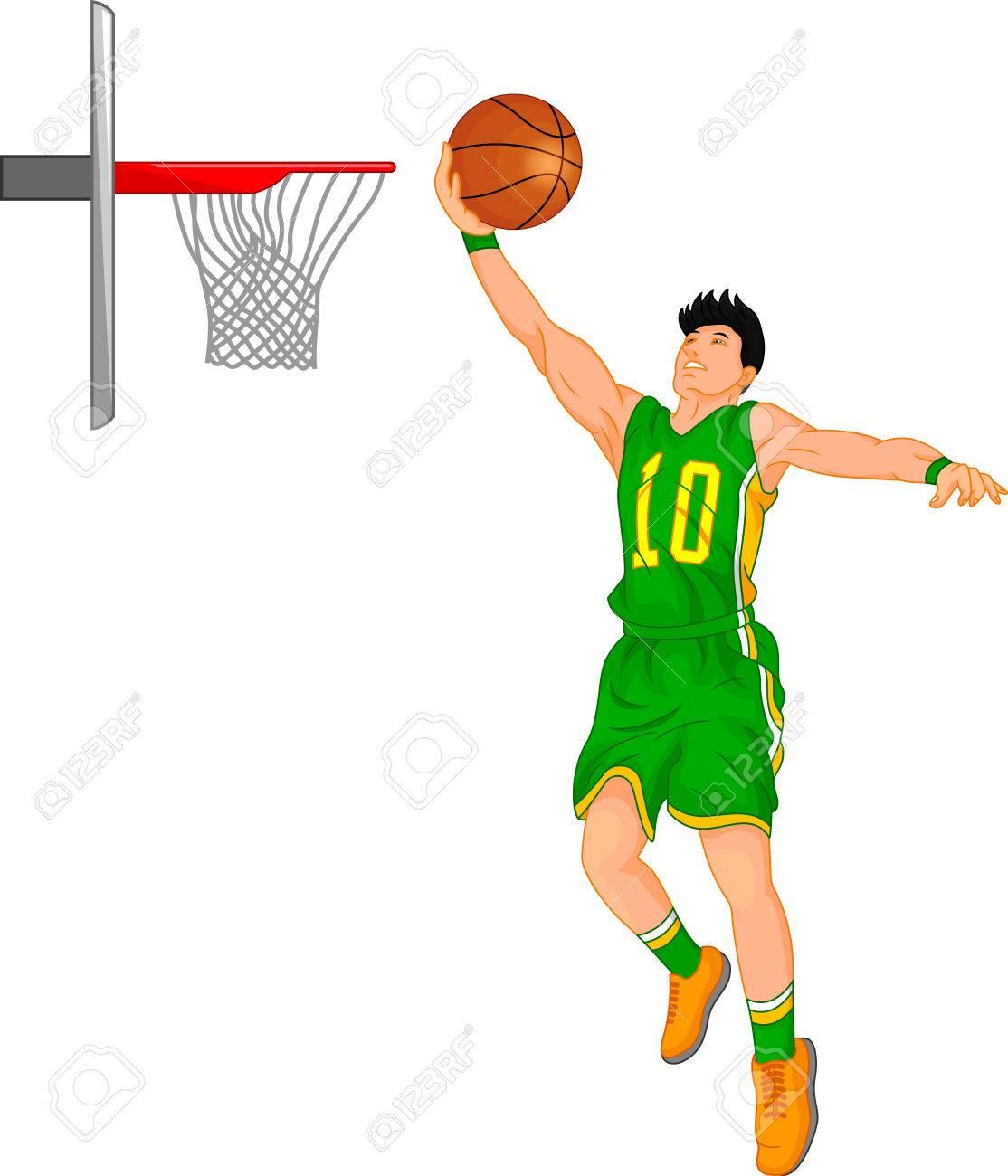 A boy basketball player illustration..