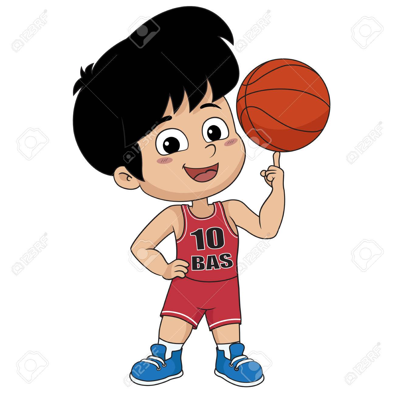 kid playing basketball.vector and illustration..