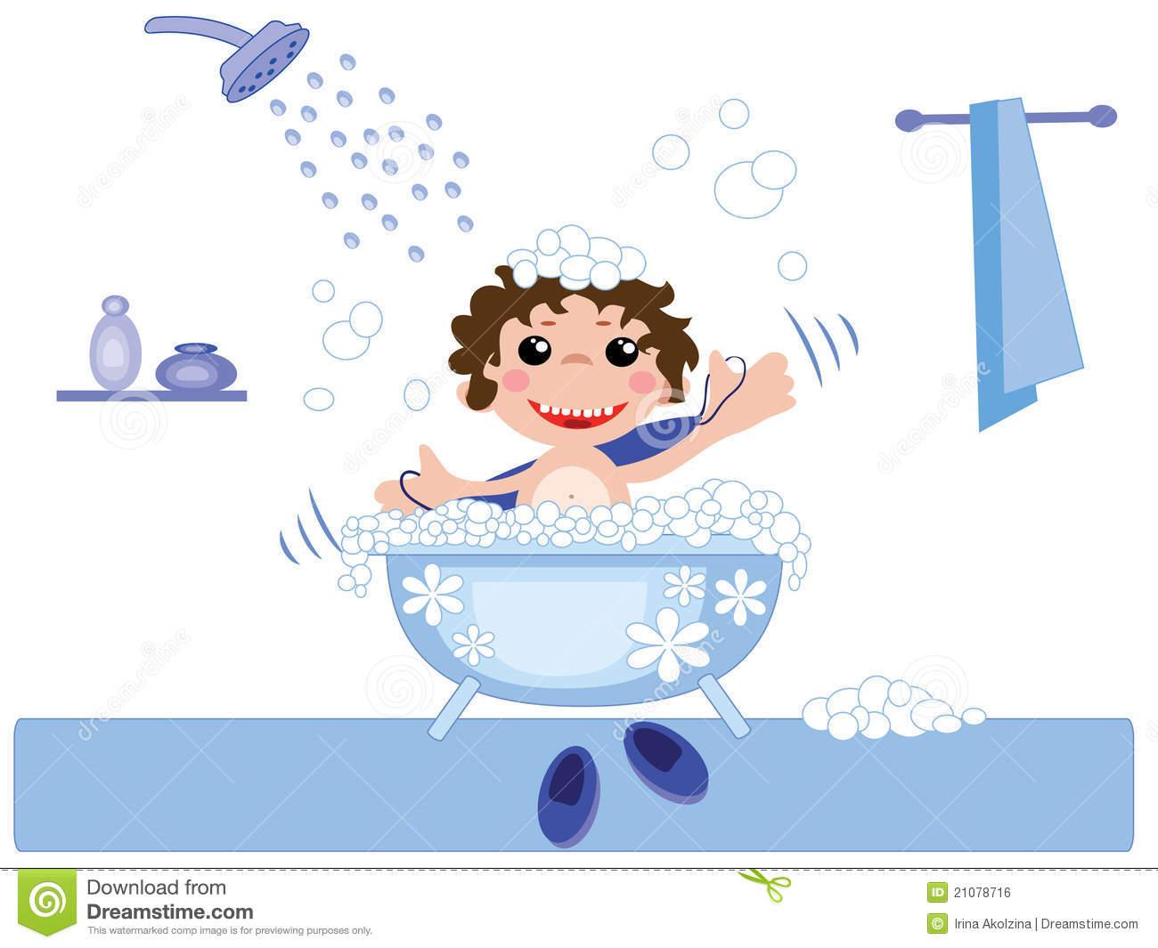 Boy bath clipart - Clipground