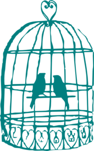 Bird Cage Love Clipart.