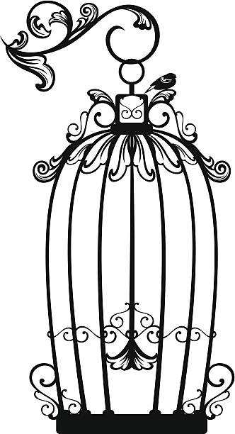 Birdcage Open Clip Art, Vector Images & Illustrations.