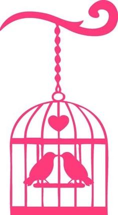 Pink Birdcage Clipart.