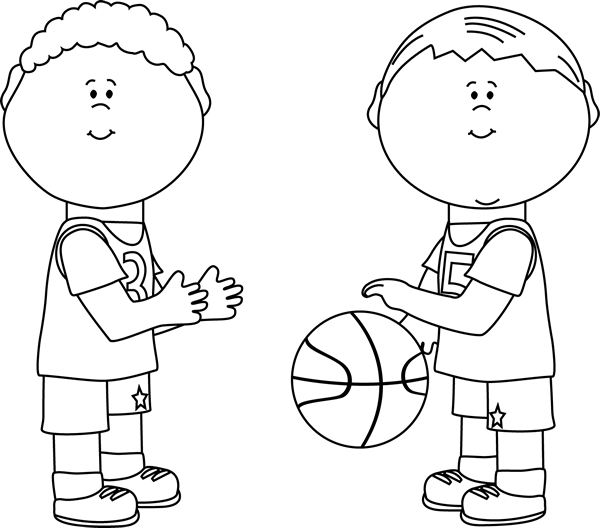 White Boy Playing Basketball Clipart & Free Clip Art Images #14728.