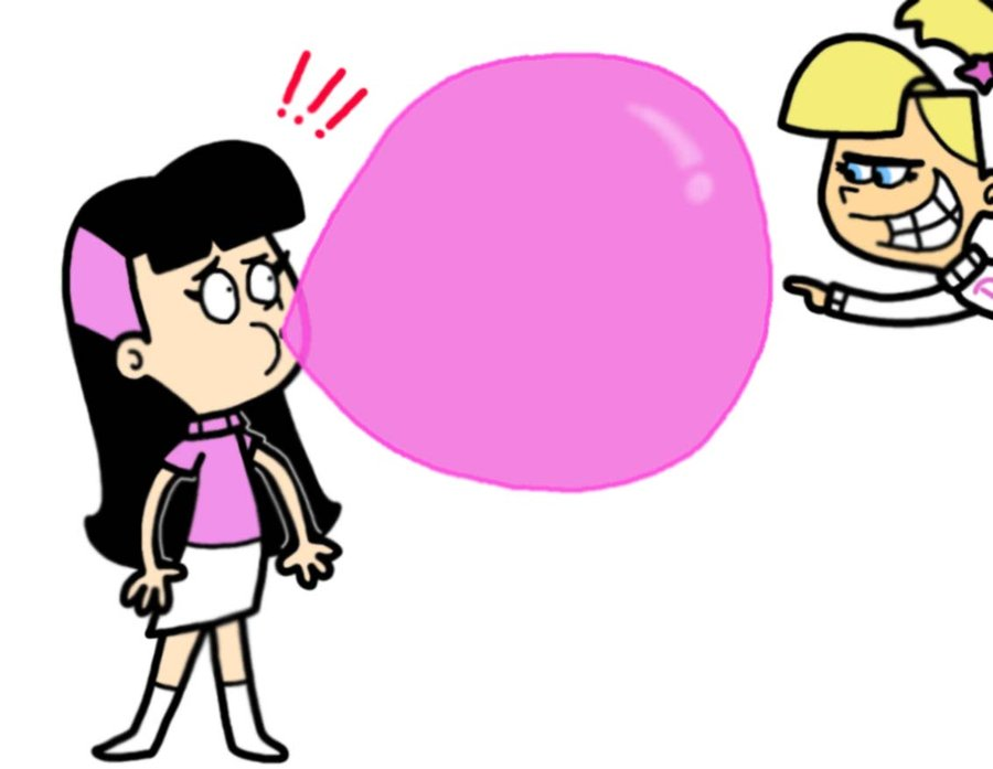 Bubble Gum Blowing Clipart.