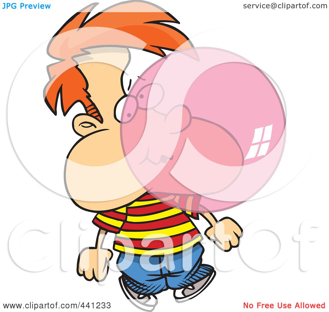Showing post & media for Cartoon boy blowing bubble gum.