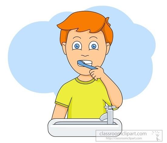 Boy Brush Teeth Clipart with Boy Brushing Teeth Clipart » Clipart Portal.