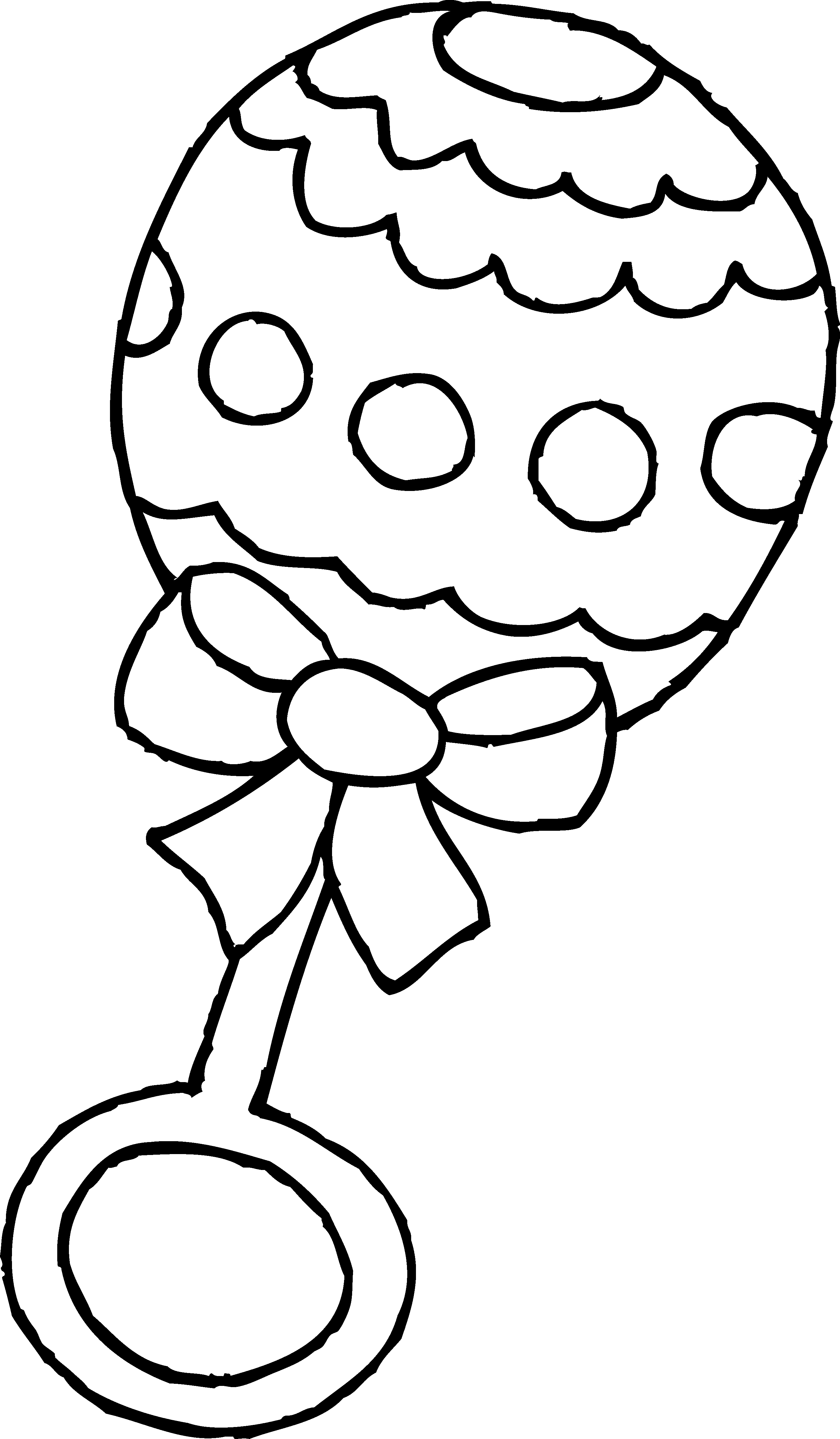 Baby Rattle Clip Art Black and White.