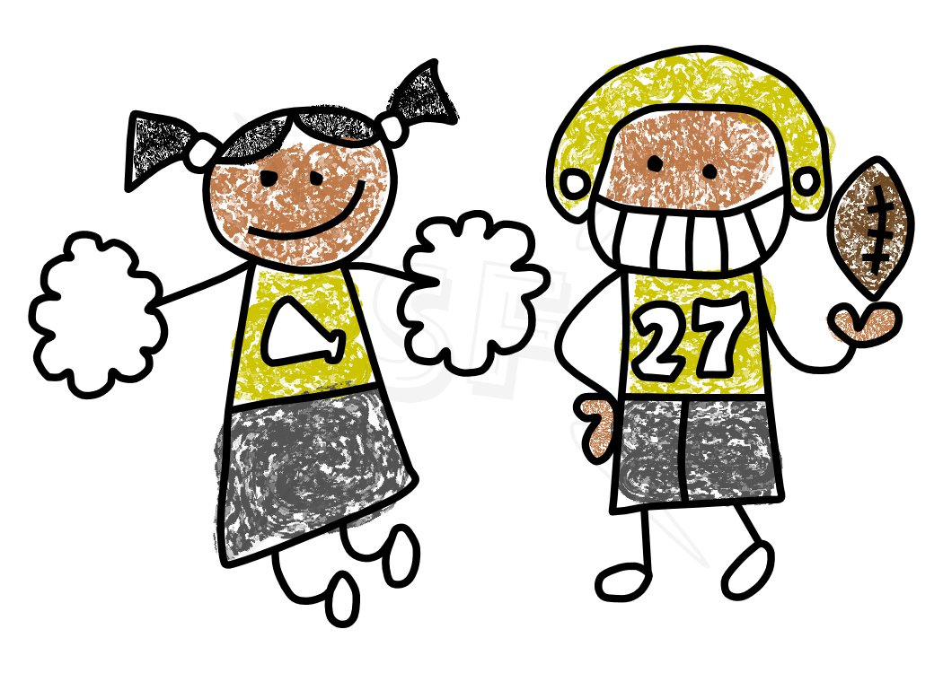 Boy Cheerleader Clipart.