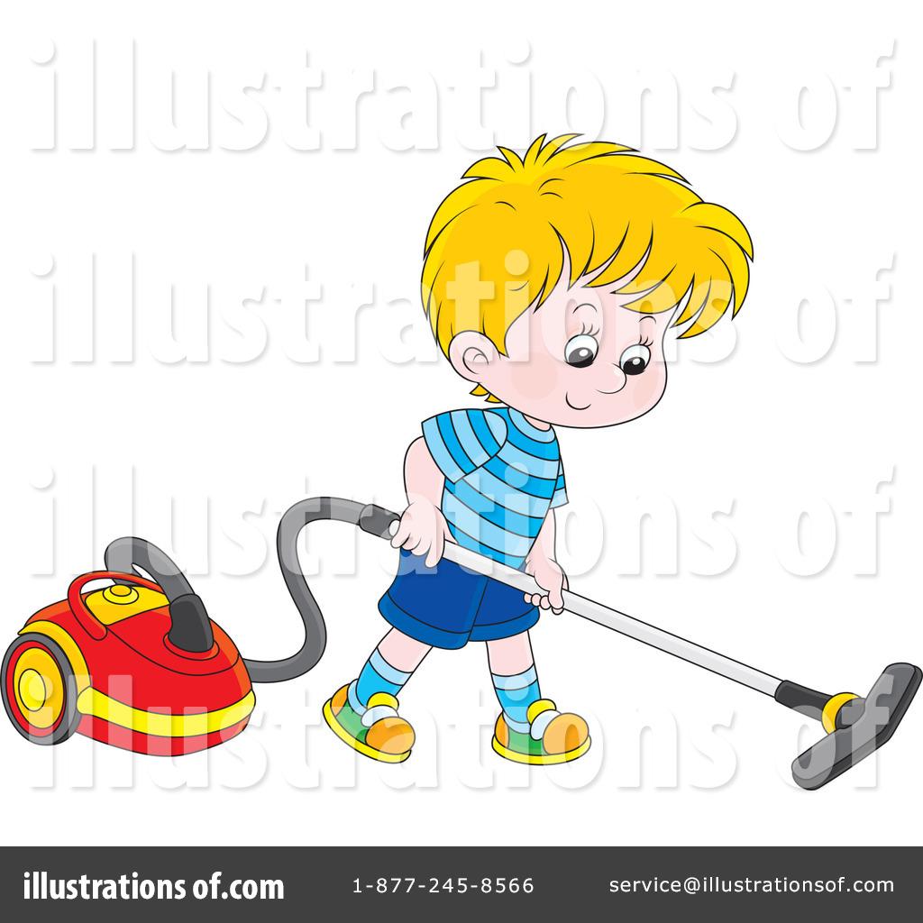 Boy Chore Clipart Vacume.