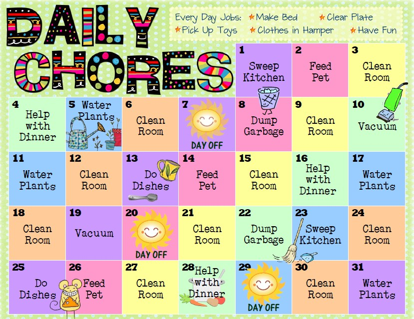 17 best ideas about Chore Chart For Kids on Pinterest.