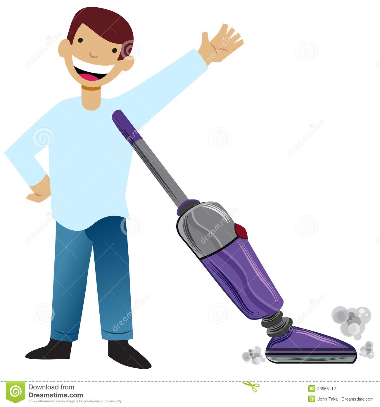 Boy Vacuum Clipart.