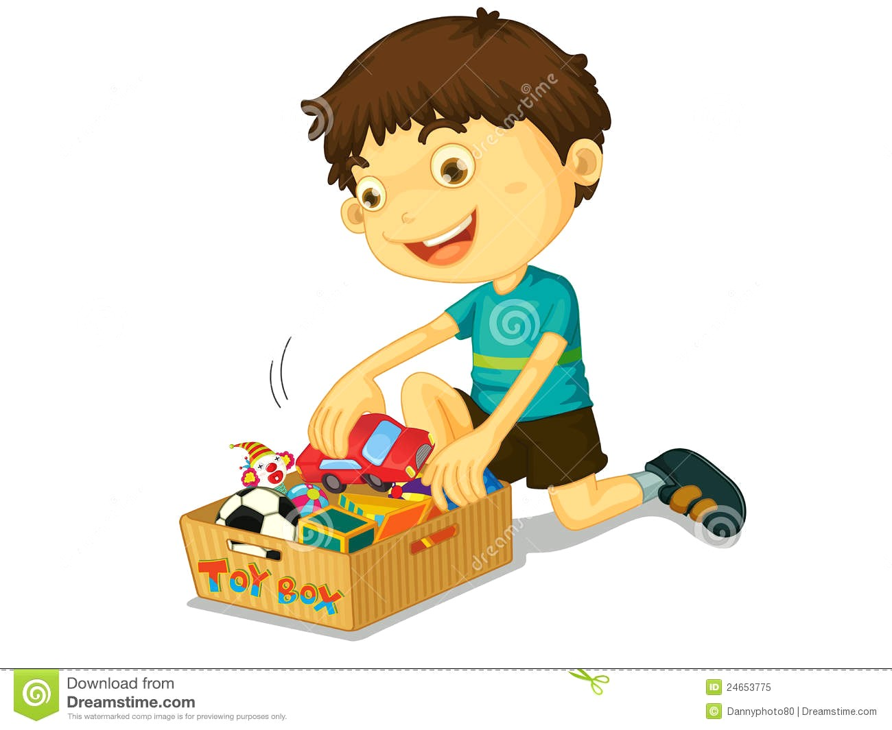 Boy clean up toys clipart 1 » Clipart Station.