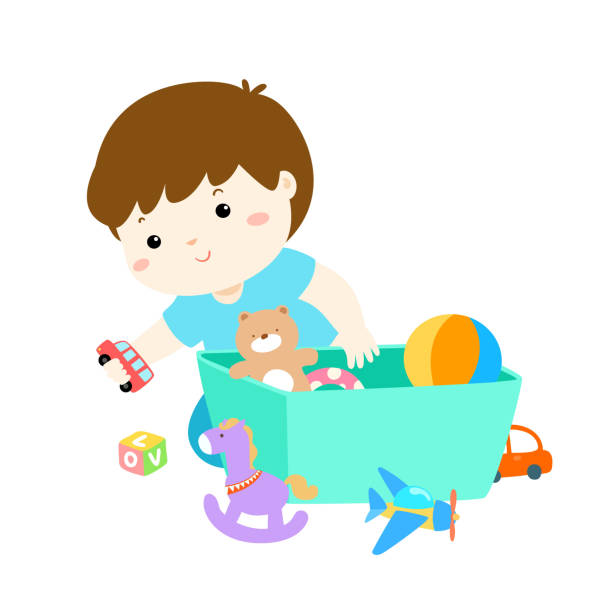 Top 60 Cleaning Up Toys Clip Art Vector Graphics And Illustrations.