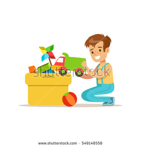 Boy clean up toys clipart 3 » Clipart Station.