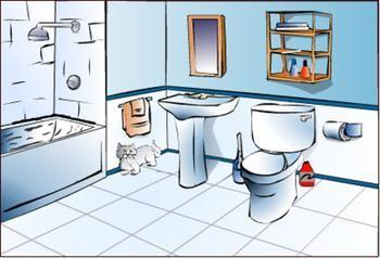 clean bathroom clipart.