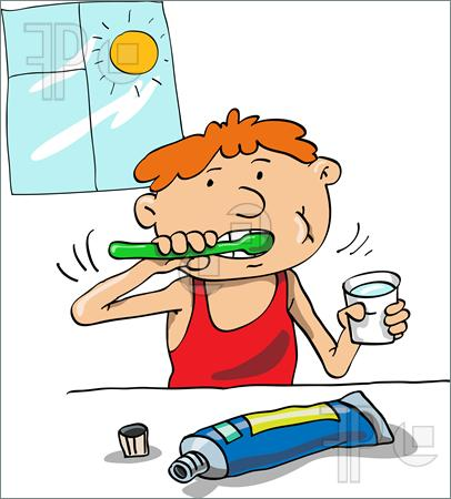 Showing post & media for Cartoon boy cleaning his teeth.