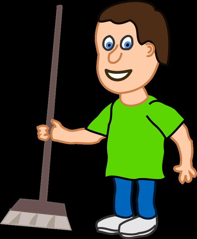 Clean Boy Clipart.