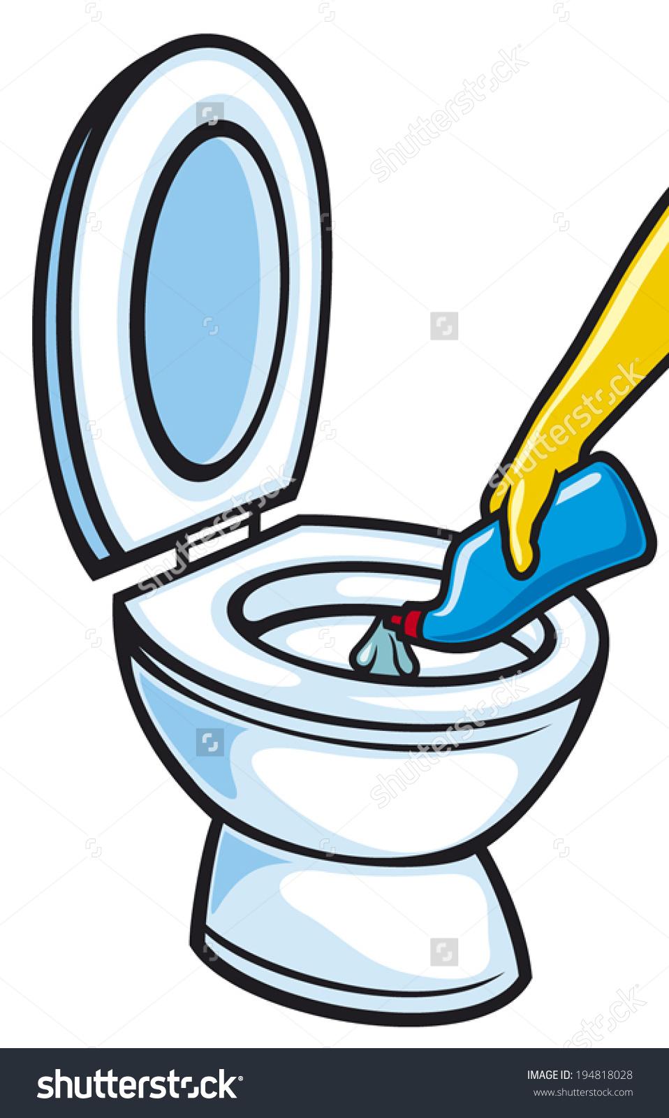 Clean bathroom clipart