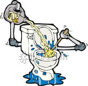 Showing post & media for Cartoon boy cleans bathroom.