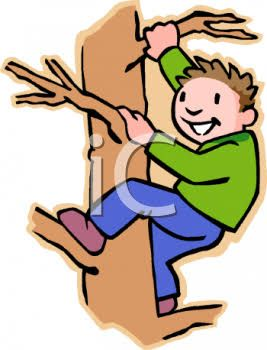 Image result for boy climbing tree clipart.